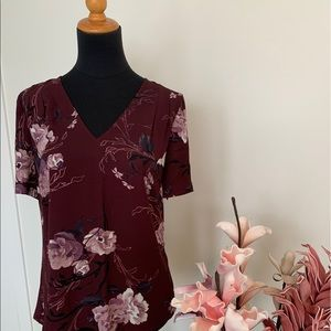 Mixed media floral top from size M